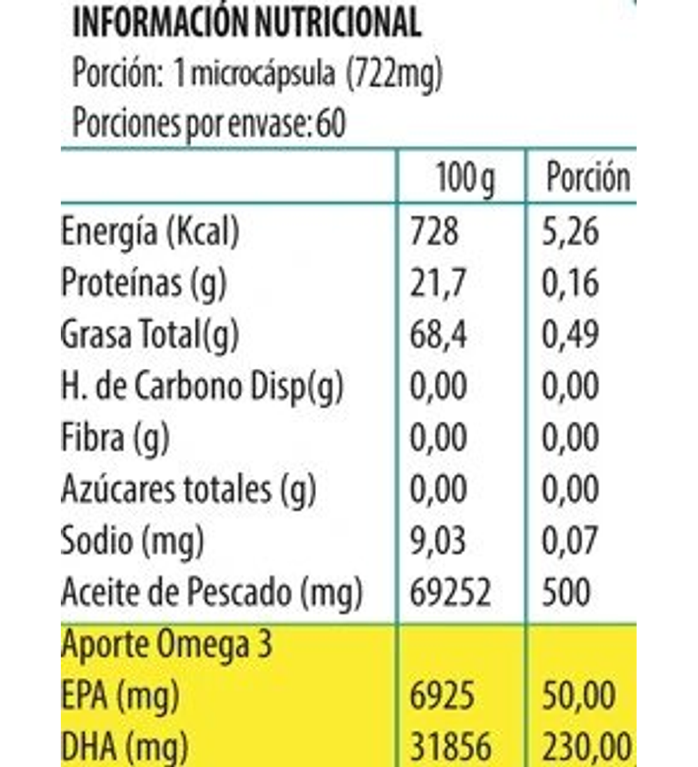 Omega 3 Junior Newscience 60 microcápsulas
