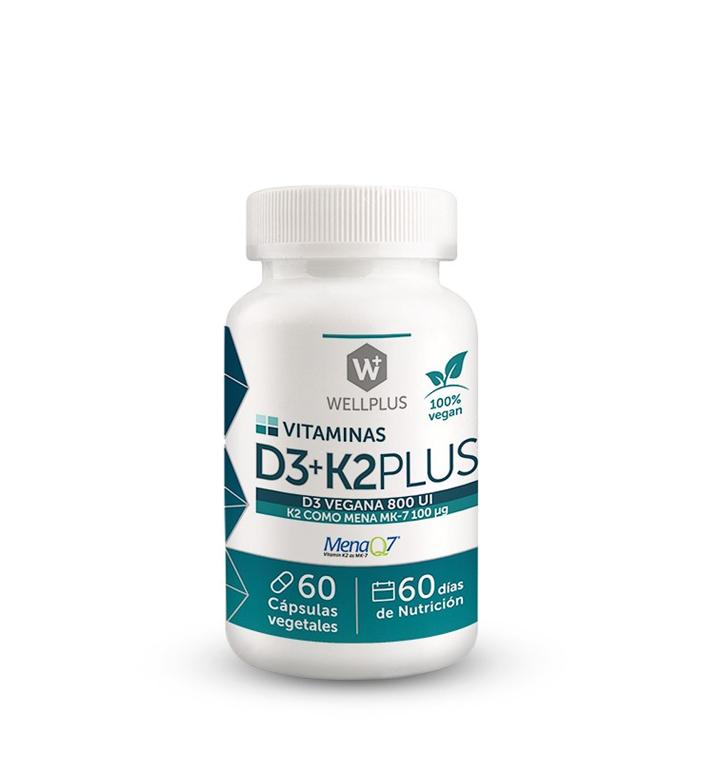 Vitamina D3+K2 Wellplus