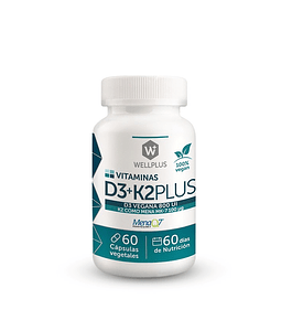 Vitamina D3+K2 Wellplus