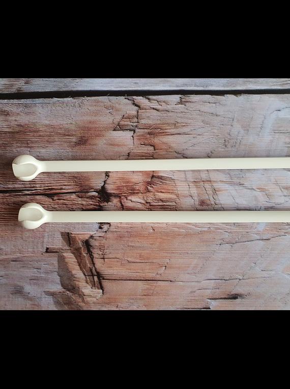 Palillos Rectos Ergonómicos de 35cm Número 10,0