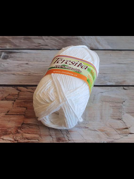 New Teresita Algodón 50gr color Blanco