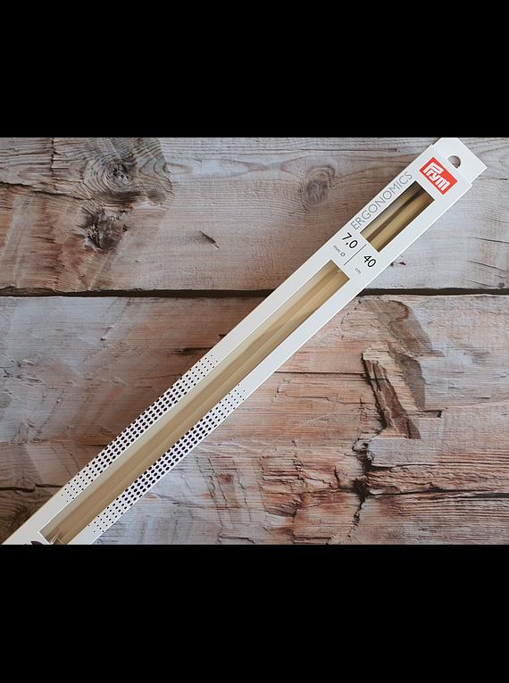 Palillos Rectos Ergonómicos de 40cm Número 7,0