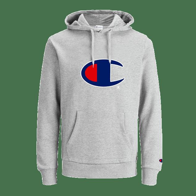 Poleron CHAMPION ''C'' (Estampado) Gris