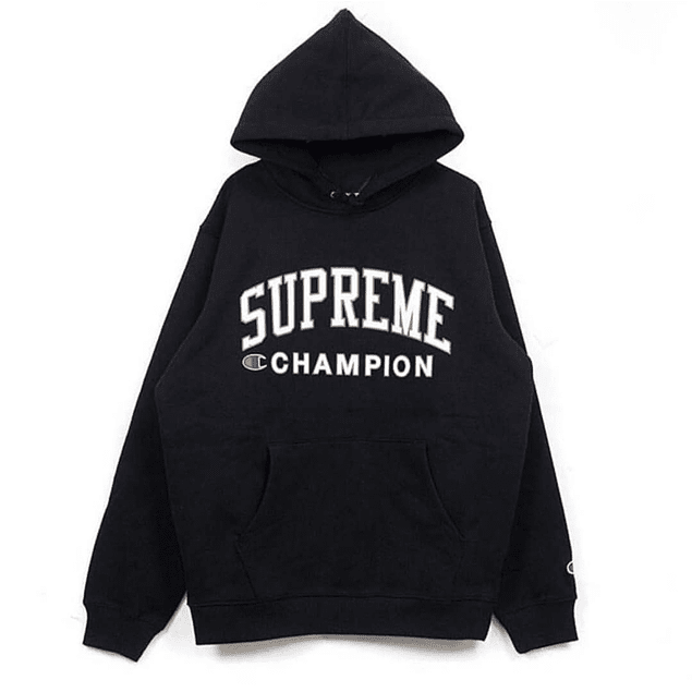 Poleron SUPREME x CHAMPION Negro