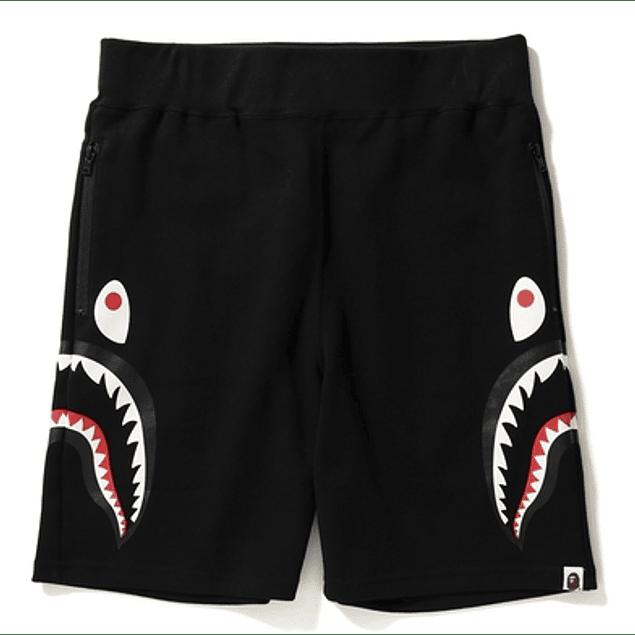 Short BAPE SHARK Negro (Costado)
