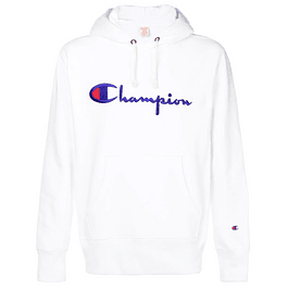 Poleron CHAMPION Blanco (Bordado)