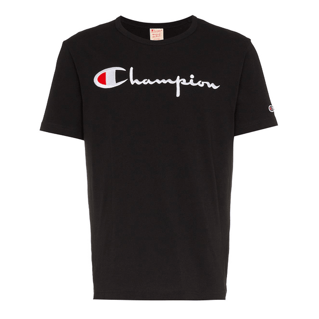 Polera CHAMPION Negra (Bordada)