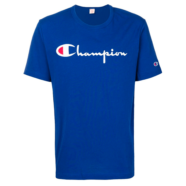 Polera CHAMPION Azul (Bordada)