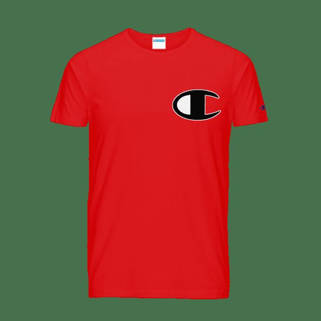 Polera CHAMPION Roja C (estampada)