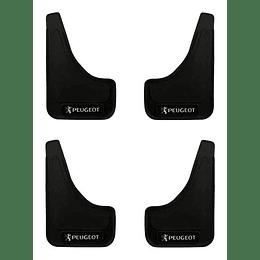 Pack 4 Guardafango Peugeot Para Auto Universal Exterior