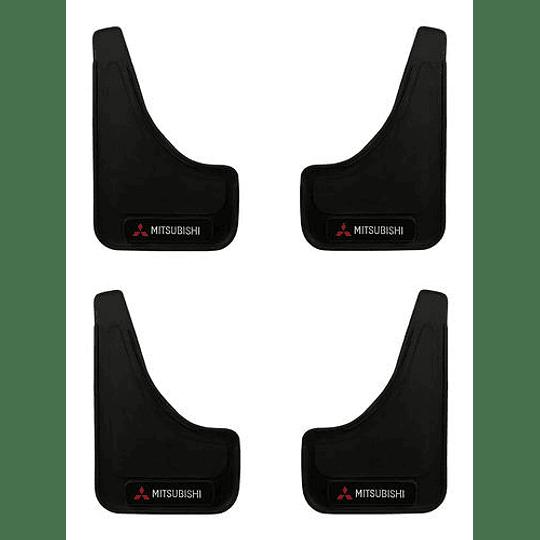 Pack 4 Guardafango Mitsubishi Para Auto Universal Exterior