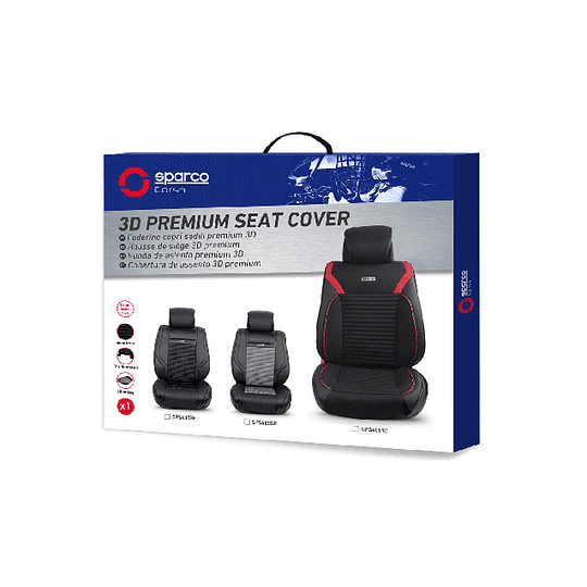 Funda Cubre Asiento Individual Sparco Sps401rd