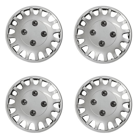 Set de Tapas de Ruedas para Vehículo Aro 12 M1 Gris