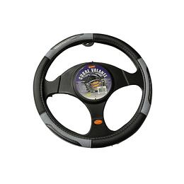 Cubre Volante Universal Para Auto Negro con Gris CVM1