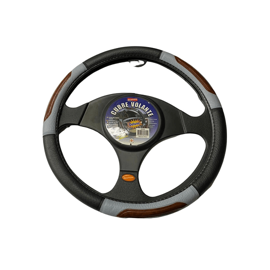 Cubre Volante Universal Para Auto Negro con Gris M2CV45