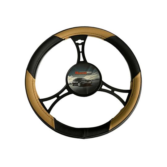 Cubre Volante Universal Para Auto Negro con Amarillo