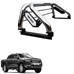 Barra Antivuelco Platina Inoxidable Ford Ranger 2013-2021