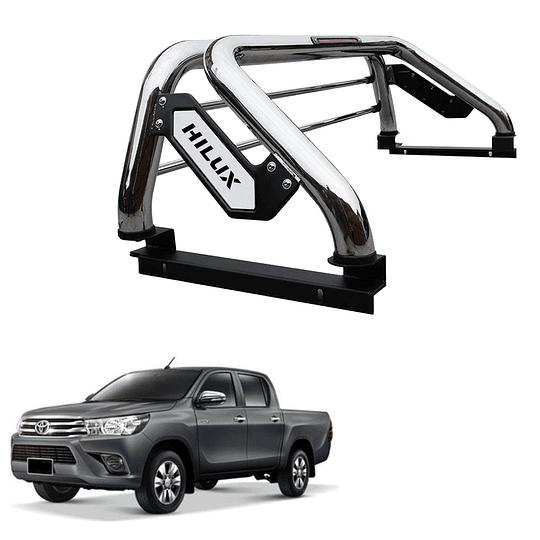 Barra Antivuelco Platina Inoxidable Toyota Hilux Revo 2016-2021