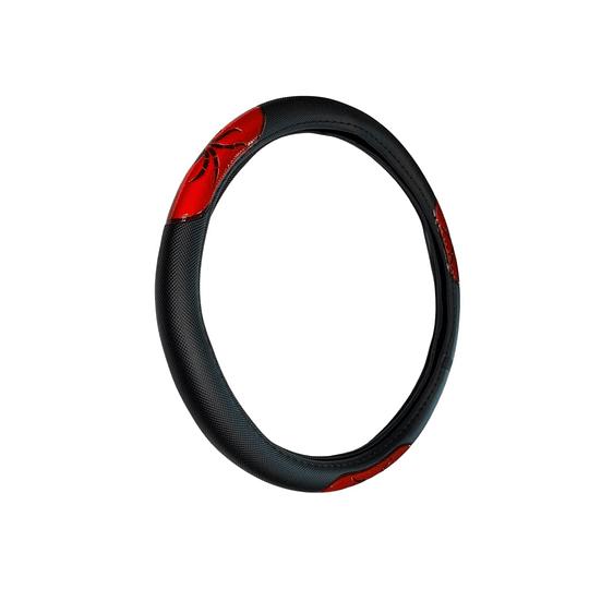 Cubre Volante Universal Para Auto Negro con Rojo