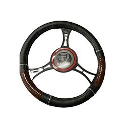 Cubre Volante Universal Para Auto Negro con Diseño café