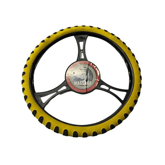 Cubre Volante Universal Para Auto Amarillo con Negro