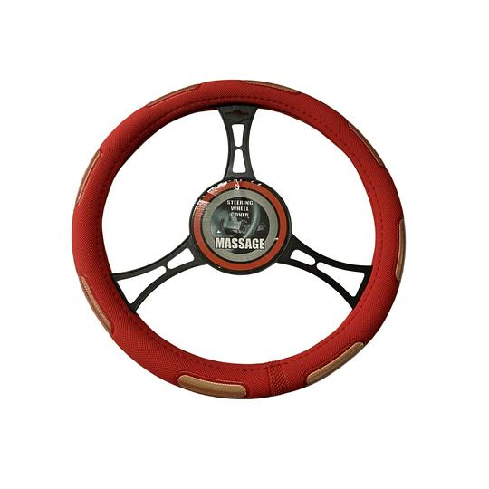 Cubre Volante Universal Para Auto Rojo con Amarillo