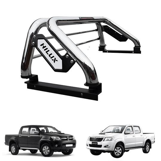 Barra Antivuelco Platina Inoxidable Toyota Hilux Vigo 2006-2015