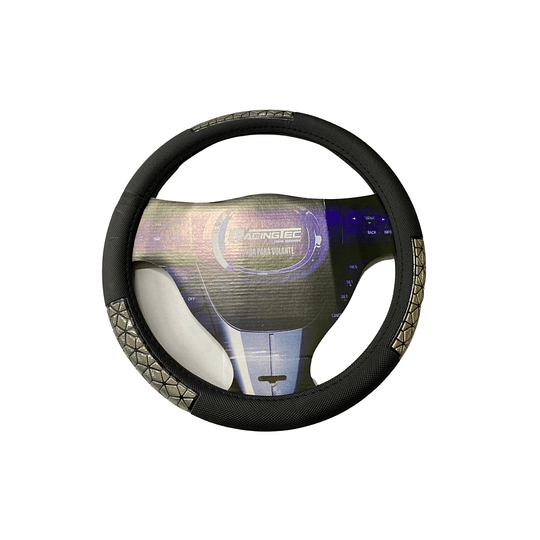 Cubre Volante Universal Para Auto Negro con Diseño