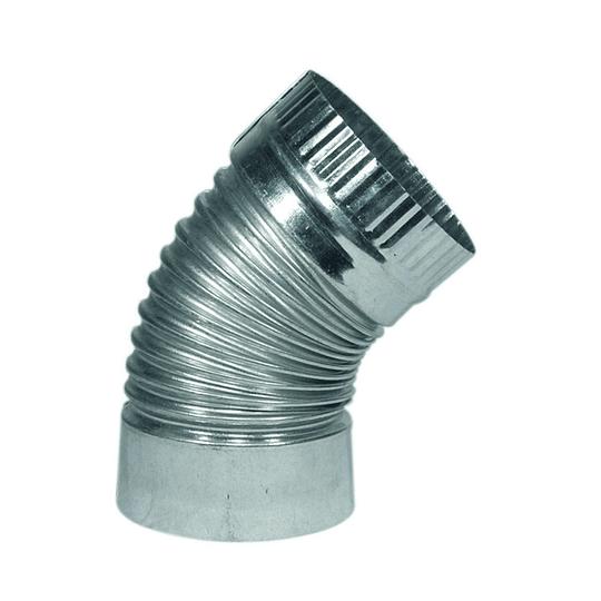 Codo para Tubo Acero Galvanizado Medida 4'' x 45°