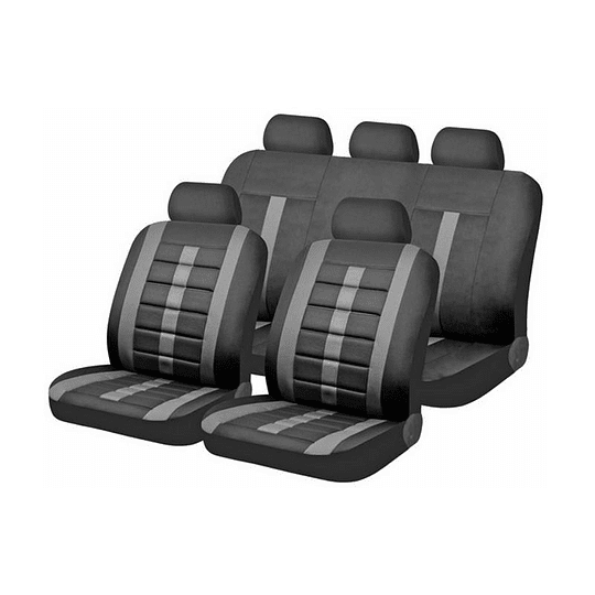 Fundas cubre asientos Vehiculo Universal New Negro Safari