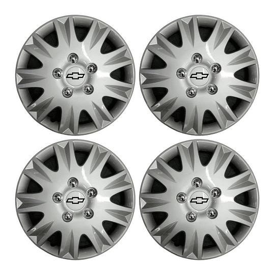 Tapas de Ruedas para Vehículo Aro 14 Estrella Chevrolet