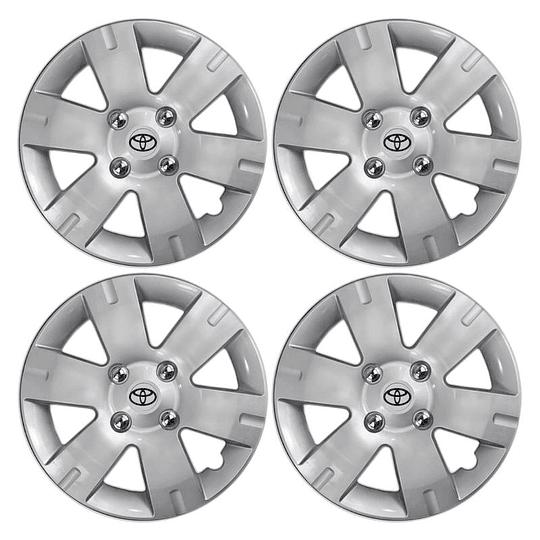 Tapas de Ruedas para Vehículo Aro 15 4Pernos Toyota