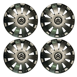 Tapas de Ruedas para Vehículo Aro 16 Argolla Citroen