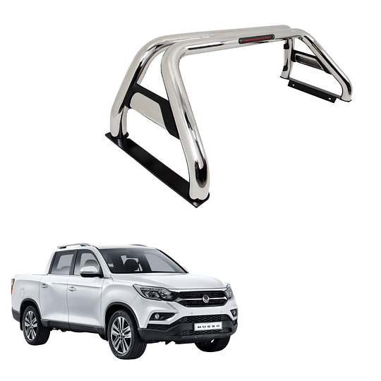 Barra Antivuelco Acero Inoxidable Ssangyong Musso 2018-2020