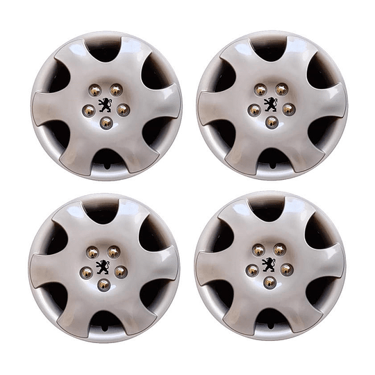 Tapas de Ruedas para Vehículo 801075S Aro 15 Peugeot