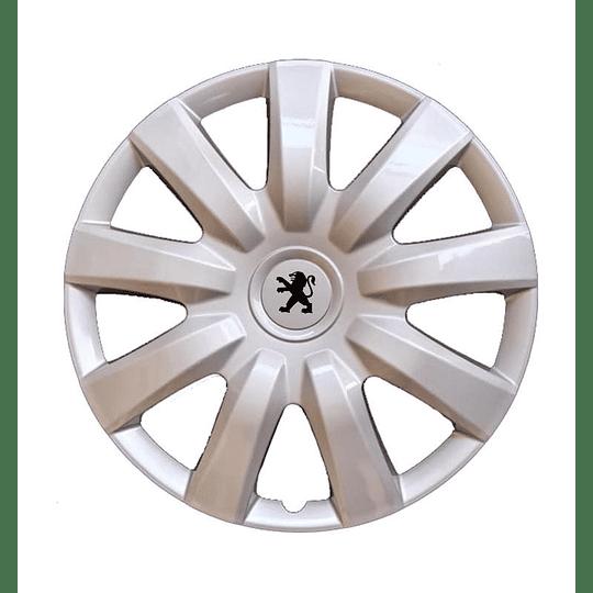 Tapas de Ruedas para Vehículo 801175S Aro 15 Peugeot