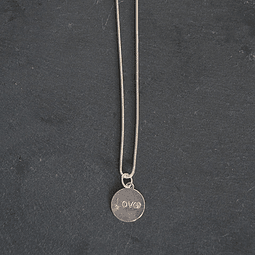 COLLAR CADENA MEDALLA LOVE