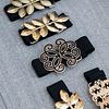 Cinturón Vintage  negro/dorado