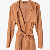Chaqueta Trench Suede Camel
