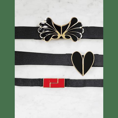 Cinturón Corazón Negro