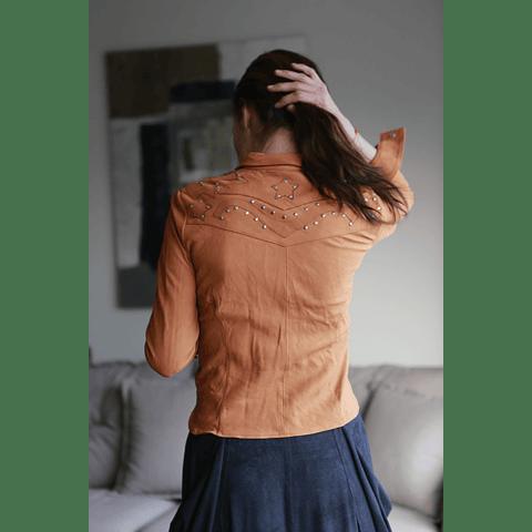 Camisa Cuero Tachas  Barreto S