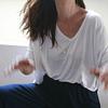 Blusa V Blanca