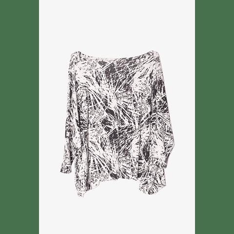 Blusa Escote V Placa Negativo U