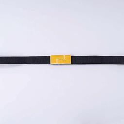 Cinturón Rectángulo Pequeño Amarillo