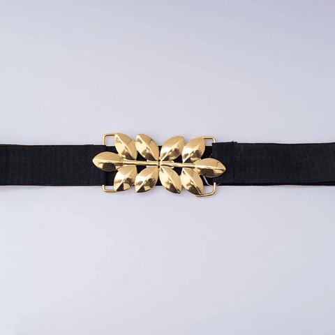 Cinturón Hojas Dorado