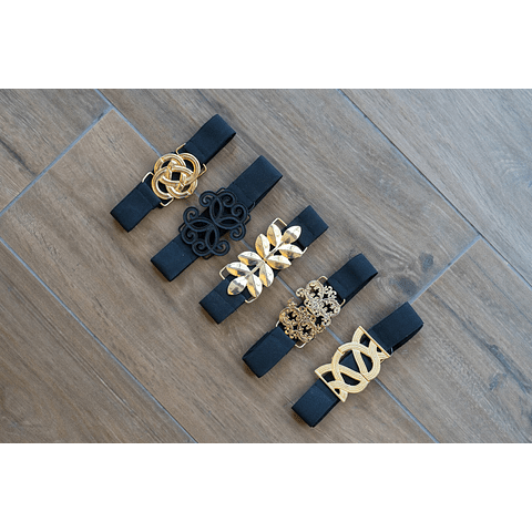 Cinturón Cuatro Círculos Entrelazados
