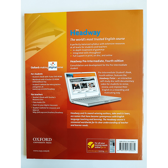 Libro New Headway Pre-Intermediate Student's book con iTutor 4th Edition - Image 2