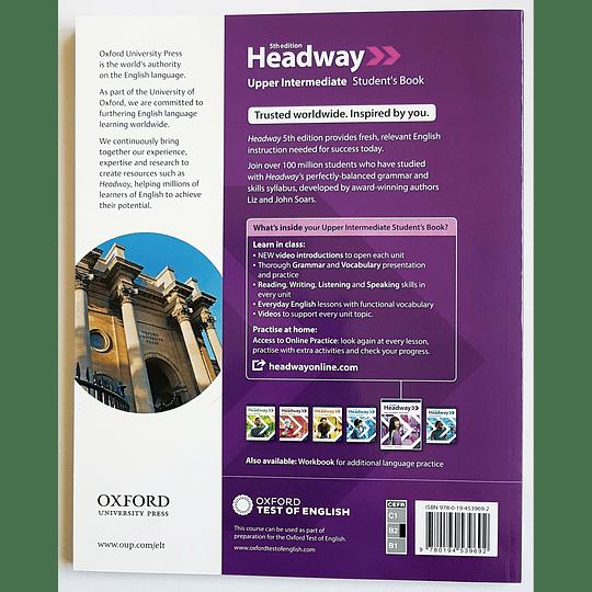 Libro Headway Upper Intermediate Student's Book 5th edition - Image 2