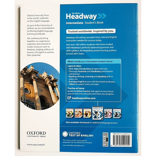Libro Headway Intermediate Student's Book 5th edition - Image 2