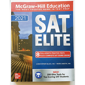 Libro McGraw-Hill Education SAT Elite 2021
